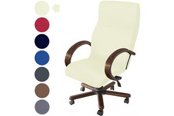 (Natural) - NORTHERN BROTHERS Office Chair Cover Computer Desk Chair Covers Stretch Rolling Chair Slipcover (Natural)