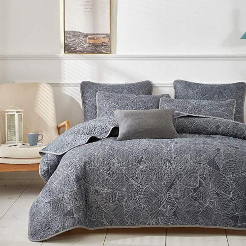 Uozzi Bedding 3 Piece Reversible Gray Space Style Quilt Set Queen Size 92x90 Soft Microfiber Lightweight Coverlet Bedspread Summer Bed Cover Set Blanket for Kids Unicorn Style 1 Quilt + 2 Shams