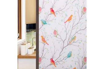 Coavas Privacy Window Film Opaque Non-Adhesive Frosted Bird Window Film Decorative Glass Film Static Cling Film Bird Window Stickers for GF-WF-60-2WB Home Office 23In. by 78.7In. (60 x 200Cm),White …