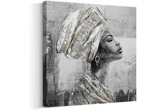 (60cm  x 60cm , Q) - Crescent Art Framed African American Black Art Dancing Black Women In Dress Wall Art Painting on Canvas Pirnt Wall Picture for Home Accent Living Room Wall Decor (60cm x 60cm , Q)