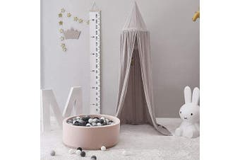 (Gray) - Children Bed Canopy, Baby Bedding Round Dome, Hanging Cotton Mosquito Ne Children Bed Canopy Pink,Room Decoration Indoor Outdoor Playing Games House Reading(Grey)