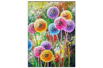 Acmer 5D 30cm x 41cm Colourful Dandelion Diamond Painting Kit Full Drill Embroidery Cross Stitch Picture Supplies Arts Craft