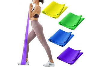 (4 Color Same strength) - CKE Resistance Bands Set Exercise Bands Professional Latex Resistance Bands for Physical Therapy Pilates Yoga Rehab Strength Training Resistance Straps for Exercise Workout Bands for Home