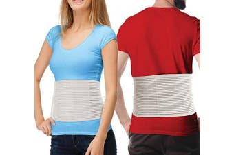 (L/XL (90cm  - 130cm )) - Hernia Belt for Men and Women - Beige Abdominal Binder for Umbilical Hernias & Navel Belly Button Hernias with Compression Pad for Hernia Support and Stomach (L/XL)