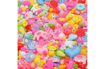 (150pcs - Color2) - Slime Charms Cute Set - Charms for Slime Assorted Fruits Candy Sweets Flatback Resin Cabochons for Craft Making, Ornament Scrapbooking DIY Crafts (150pcs - Color2)