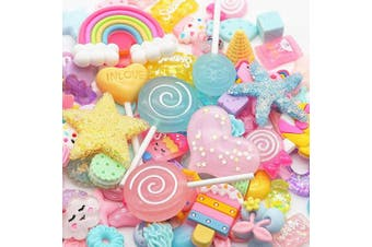 (Macaron) - Slime Charms Cute Set - ANPHNIE Charms for Slime Assorted Candy Sweets Flatback Resin Cabochons for Craft Making, Ornament Scrapbooking DIY Crafts 100PCS (Macaron)