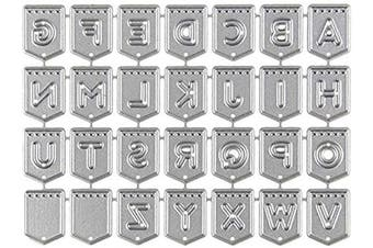 English Alphabet A to Z Metal Embossing Cutting Dies Stencils Scrapbooking Dies Cuts for DIY Crafts New Year Wedding Valentine's Present Greeting Cards Albums Decoration