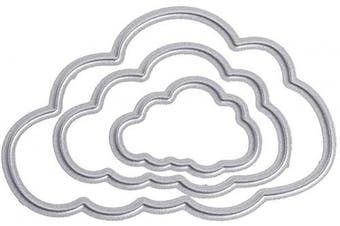 Three Pieces Clouds Metal Die Cuts Cutting Dies Cut Stencils for DIY Scrapbooking Photo Album Decorative Embossing Paper Dies for Card Making Template