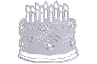 Cake Metal Die Cuts Happy Birthday Candle Cutting Dies Cut Stencils for DIY Scrapbooking Photo Album Decorative Embossing Paper Dies for Card Making Template