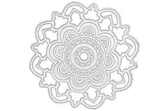 Metal Cutting Dies,Circle Lace Flower Background Embossing Dies Carbon Steel Die Cuts Stencils for DIY Scrapbooking Album Paper Card Making