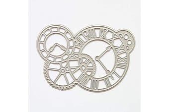 Clock Time Axis Cutting Dies Metal Stencils Scrapbooking Tool DIY Craft Carbon Steel Embossing Template for Paper Card Making