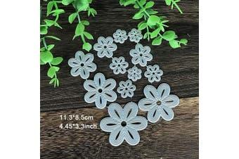 Flower Metal Die Cuts,Spring Flower Leaves Border Cutting Dies Cut Stencils for DIY Scrapbooking Photo Decorative Embossing Paper Dies for Scrapbooking Card Making