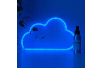 (Blue Cloud) - Qunlight Blue Cloud Neon Signs, Battery/USB Operated LED Neon Light for Party Supplies, Girls Room Decoration Accessory, Table Decoration, Children Kids Gifts(Blue Cloud)