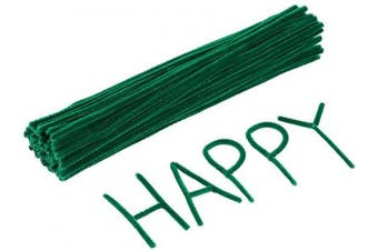 (Green) - Caydo 120 Pieces St. Patricks Day Green Pipe Cleaners for Creative Crafts Decorations (Green)