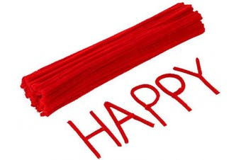(Red) - Caydo 120 Pieces 30cm Valentine Red Pipe Cleaners for Valentine Day, Creative Crafts Decorations(Red)