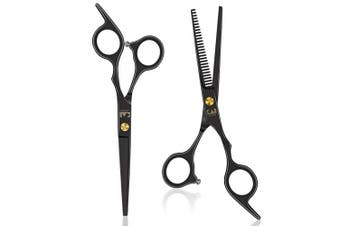 Professional Hair Cutting Shears Set, 17cm Straight/Thinning Shears Hair Scissors Kit for Women Men