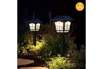 (2) - Solar Pathway Lights Outdoor or Solar Lights Outdoor or Solar Garden Lights or Solar Landscape Lights or Solar Lights for Yard/Patio/Walkway/Driveway/Lawn/décor (2)