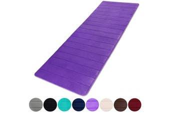 "(24""x70""/60x180cm, Purple) - Buganda Memory Foam Soft Bath Mats - Non Slip Absorbent Bathroom Rugs Extra Large Size Runner Long Mat for Kitchen Bathroom Floors 60cm x 180cm , Purple"