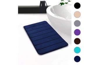 "(20""x32""/51x81 cm, Navy Blue) - Colorxy Memory Foam Bath Mat - Soft & Absorbent Bathroom Rugs Non Slip Large Bath Rug Runner for Kitchen Bathroom Floors (20""x32""/51x81 cm, Navy Blue)"