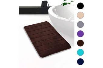 "(20""x32""/51x81 cm, Chocolate) - Colorxy Memory Foam Bath Mat - Soft & Absorbent Bathroom Rugs Non Slip Large Bath Rug Runner for Kitchen Bathroom Floors (20""x32""/51x81 cm, Chocolate)"