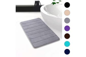 "(20""x32""/51x81 cm, Grey) - Colorxy Memory Foam Bath Mat - Soft & Absorbent Bathroom Rugs Non Slip Large Bath Rug Runner for Kitchen Bathroom Floors (20""x32""/51x81 cm, Grey)"
