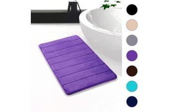 "(20""x32""/51x81 cm, Purple) - Colorxy Memory Foam Bath Mat - Soft & Absorbent Bathroom Rugs Non Slip Large Bath Rug Runner for Kitchen Bathroom Floors (20""x32""/51x81 cm, Purple)"