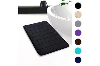 "(20""x32""/51x81 cm, Black) - Colorxy Memory Foam Bath Mat - Soft & Absorbent Bathroom Rugs Non Slip Large Bath Rug Runner for Kitchen Bathroom Floors (20""x32""/51x81 cm, Black)"