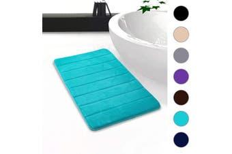 "(20""x32""/51x81 cm, Teal) - Colorxy Memory Foam Bath Mat - Soft & Absorbent Bathroom Rugs Non Slip Large Bath Rug Runner for Kitchen Bathroom Floors (20""x32""/51x81 cm, Teal)"