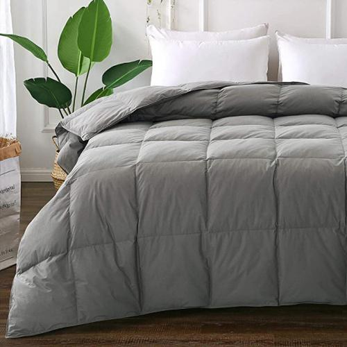 Queen Full 90 230cm Grey Elnido Queen Grey Down Comforter With Goose Duck Down And Feather Filling 100 Cotton Cover Warmth All Season Duvet Insert Machine Washable Stand Alone