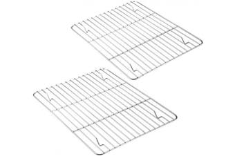 (29cm  x 23cm ) - Baking Cooling Rack Set of 2, E-far Stainless Steel Metal Roasting Cooking Racks, Size - 29cm x 23cm , Non Toxic & Rust Free, Oven & Dishwasher Safe