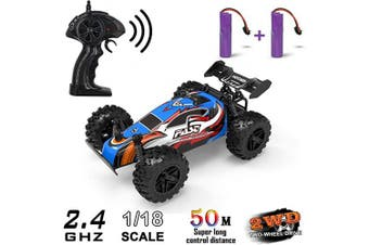 (Black Blue) - RC Cars, Remote Control Cars for Boys and Girls, 2.4Ghz Monster RC Truck High Speed Racing Car Toys for Kids Age 4,5,6,7,8 and Up Years Old