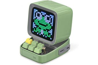 (Green) - Divoom Ditoo Programmable Pixel Art LED Bluetooth Speaker Showing Clock Emoji DIY Design for Home Wedding Party Decoration with Wireless App Control (Green) …