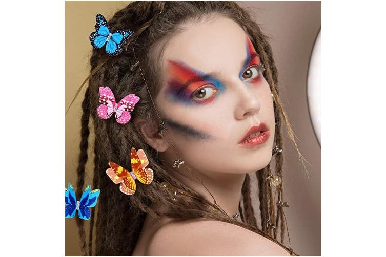 20 Pieces Butterfly Dreadlocks Beads Hair Cuffs Clips Rings Colourful Braiding Hair Jewellery For Women Girls Hair Accessories Iridescent Butterfly Pattern Kogan Com