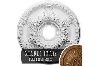 (Hand-Painted Smokey Topaz) - Ekena Millwork CM18GASTF Granada Ceiling Medallion, 46cm OD x 8.9cm ID x 6.4cm P (Fits Canopies up to 17cm ), Hand-Painted Smokey Topaz