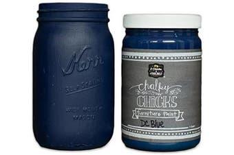 (32 oz, DC Blue) - Chalk Finish Paint - Furniture & Cabinet Paint (950ml, DC Blue)