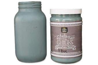 (32 oz, Y Blue) - Chalk Finish Paint - Furniture & Cabinet Paint (950ml, Y Blue)