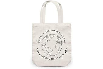 NymphFable Grocery Bags Reusable Eco Friendly Earth Shopping Bags Washable Foldable Canvas Tote Bag 23kg