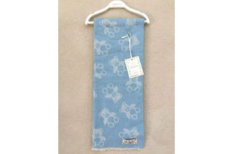 La Copertina Made in Italy Baby Blanket Blue Teddy Bear 70cm x 100cm Cotton Blend