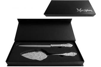 (Silver Plated) - Angel Giftware Wedding Cake Knife and Server Set   Silver Plated   Perfect for Wedding, Anniversaries, Birthdays, Shower Parties and Other Special Occasions the ideal present for the Perfect Couple
