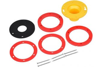 OATEY 43400 Set-Rite Toilet Flange Extension Kit, 0.6cm - 4.1cm , Red, Yellow