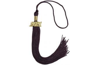(2021, Maroon) - Endea Graduation Single Colour Tassel With Gold Date Drop