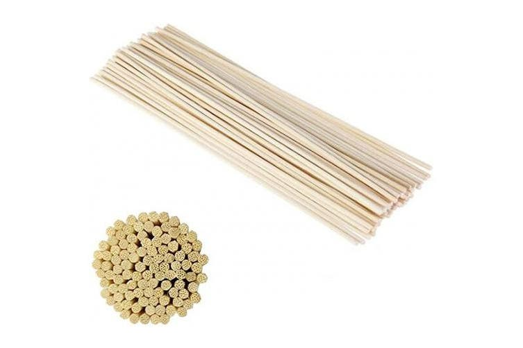 XINGZI 50Pcs 25cm/10inch Unbleached Natural Plant Cane Indoor Fragrance Volatile Rods Replacement Incense Diffusion Sticks Diffusers for Aromatherapy Essential Oil Indoor Fragrance
