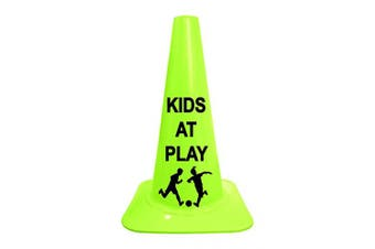 """Cortina Sport Cone with Legend""""Kids at Play"""", 03-500-41-02, 46cm Height, Lime Cone"""
