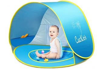 (Blue) - Pop up Beach Tent Outdoor Automatic UV Protection baby Portable Shade Sun Shelter Canopy Tent for Family Garden Camping Picnic