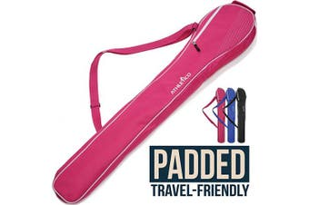 (Pink) - Athletico Lacrosse Stick Bag - Lax Equipment Bags for Boys or Girls, Kids & Youth