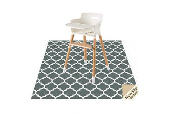 (Lattice) - Splat Mat for Under High Chair/Arts/Crafts by CLCROBD, 130cm Baby Anti-Slip Food Splash and Spill Mat for Eating Mess, Waterproof Floor Protector and Table Cloth (Lattice)