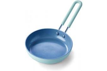 (Egg Pan, 13cm , Sky Blue) - GreenPan Mini Healthy Ceramic Nonstick Sky Blue Egg Pan, 13cm