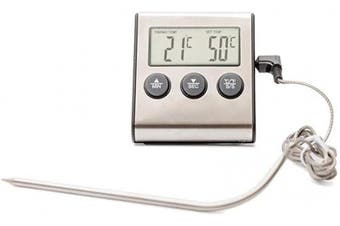(Gray) - Digital Meat Thermometer - BBQ Meat Thermometer - Meat Thermometer for Grilling - Professional Instant Read - Thermometer timer dual use