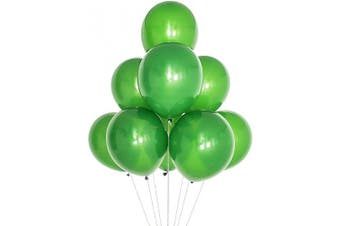(12 Inch / 30 cm, Matte Blackish Green) - AZOWA Blackish Green Balloon 30cm Small Latex Balloons for Party Decoration (Matte, 100 Pcs)