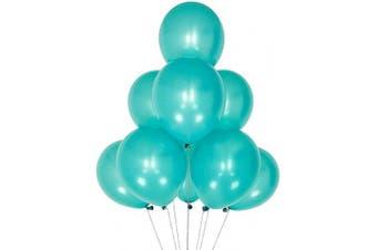 (12 Inch / 30 cm, Pearl Lake Blue) - AZOWA Lake Blue Balloon 30cm Small Latex Balloons for Party Decoration (Pearl, 100 Pcs)